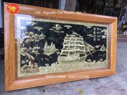 Bạn đã biết cách treo tranh thuận buồm xuôi gió bằng đồng rước tài lộc (2)